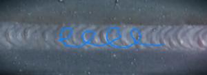 cursive e weld