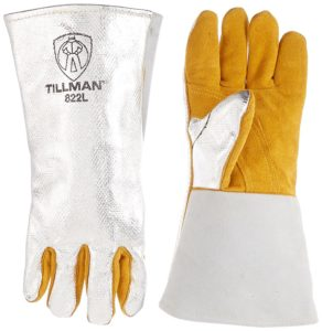 Tillman 822L Leather and Aluminized Kevlar Aluminized Welding Glove