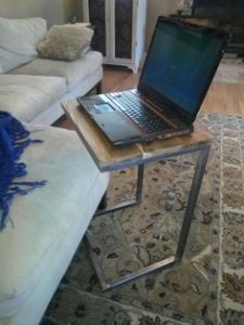 side laptop stand welded