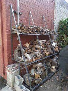 welded firewood rack