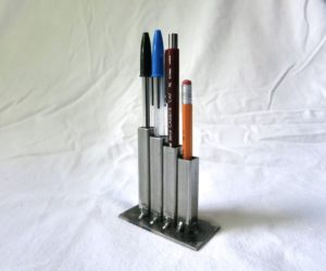 welded metal pencil holder