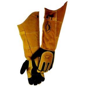 Caiman 1878 21 Inch Deerskin Welding Glove