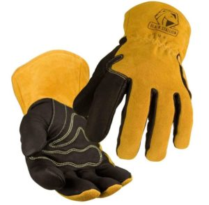 black stallion pigskin welding gloves