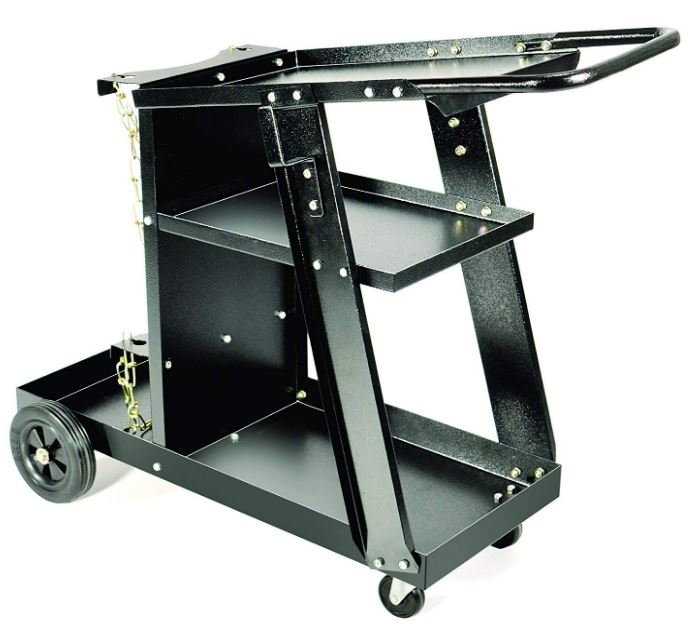 Welding Cart  up to 100 lbs  two shelves powder coat finish