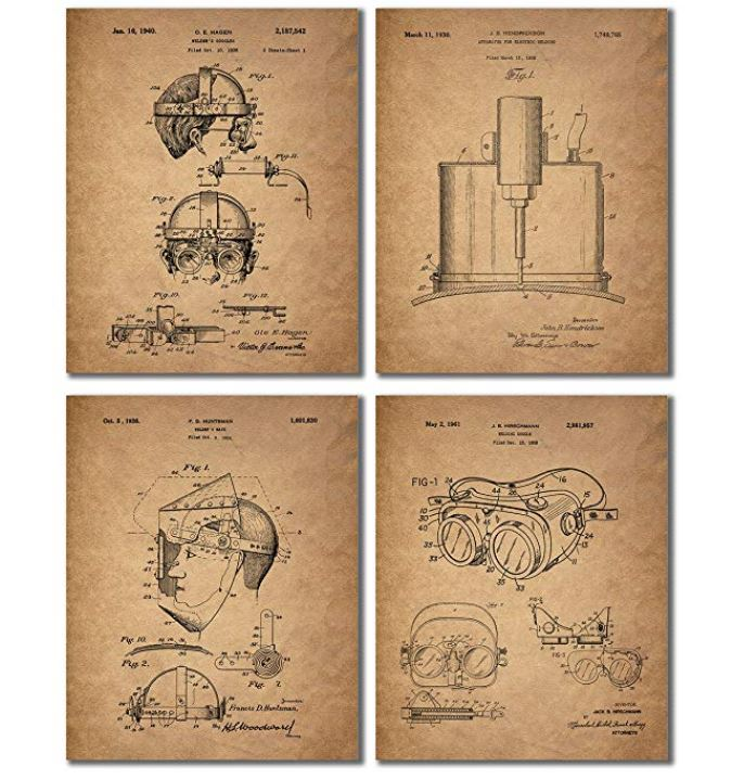 Welder Patent Wall Art Prints